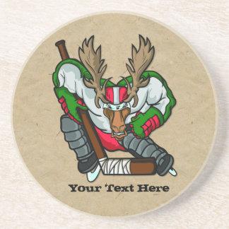 Hockey de los alces posavasos diseño