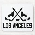 Hockey de Los Ángeles Tapetes De Ratón