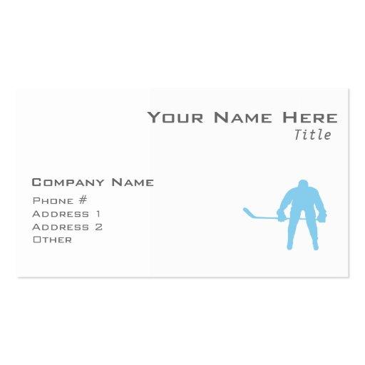 Hockey de los azules cielos tarjeta de visita