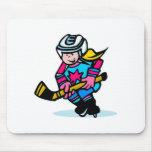 Hockey de los chicas alfombrilla de ratones