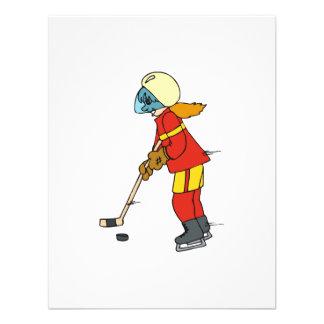 Hockey de los chicas anuncio personalizado