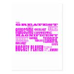 Hockey de los chicas: Jugador de hockey más grande Postal
