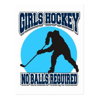 Hockey de los chicas - ningunas bolas requeridas postales