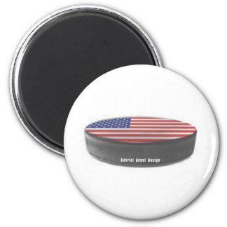 Hockey de los E.E.U.U. Imán Redondo 5 Cm