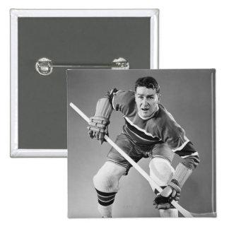 Hockey Defenseman Button