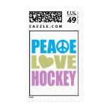 Hockey del amor de la paz franqueo