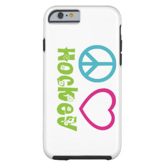 Hockey del amor de la paz funda de iPhone 6 tough