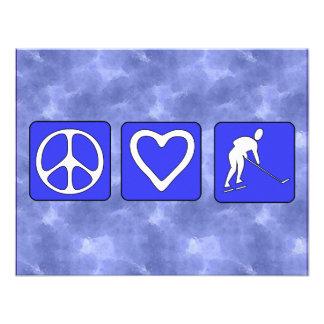 Hockey del amor de la paz comunicados personalizados