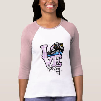 Hockey del amor camisetas