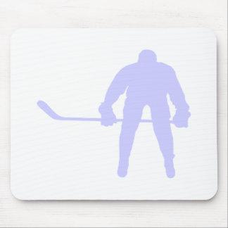 Hockey del azul de la lavanda alfombrillas de ratones