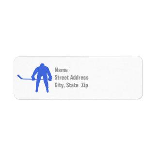 Hockey del azul real etiquetas de remite