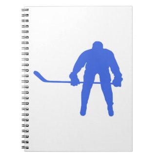 Hockey del azul real libreta espiral