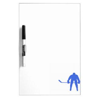 Hockey del azul real pizarras blancas