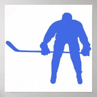 Hockey del azul real póster