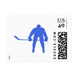 Hockey del azul real sello