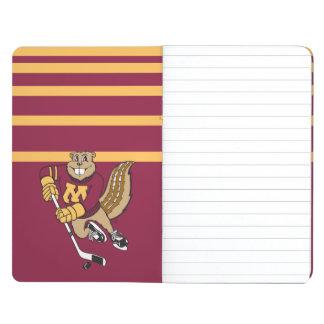 Hockey del Gopher de Goldy Cuadernos Grapados