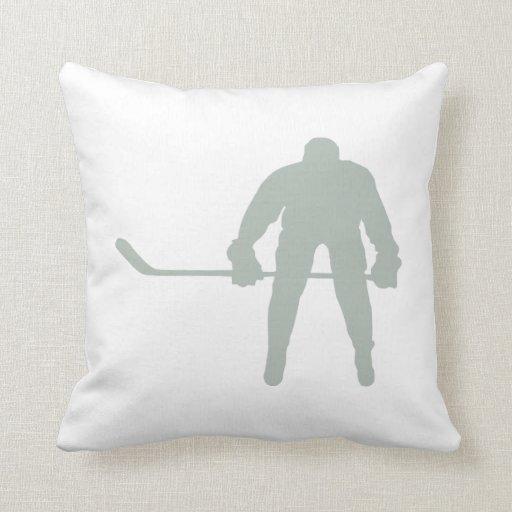 Hockey del gris de ceniza cojin