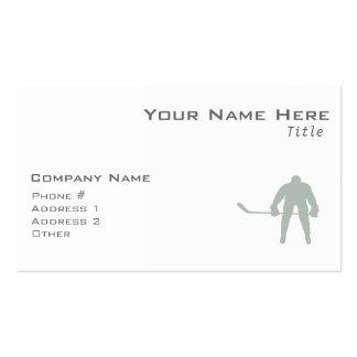 Hockey del gris de ceniza tarjetas de visita