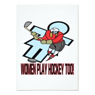 Hockey del juego de las mujeres también anuncio