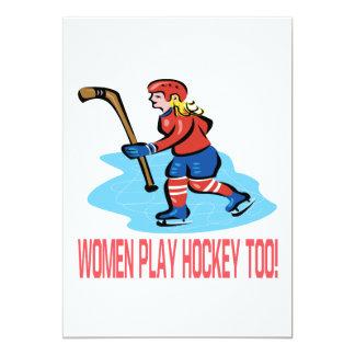 Hockey del juego de las mujeres también comunicado personal