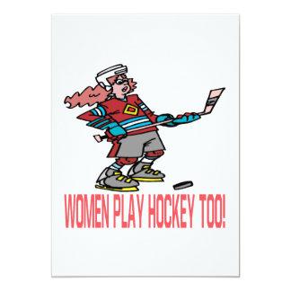 Hockey del juego de las mujeres también invitaciones personales