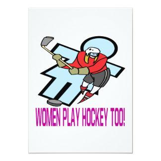Hockey del juego de las mujeres también anuncios personalizados