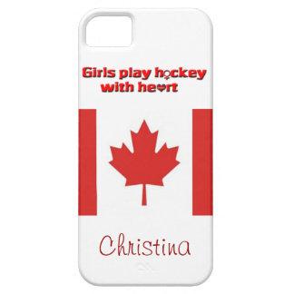 ¡Hockey del juego de los chicas con el corazón! - iPhone 5 Carcasa