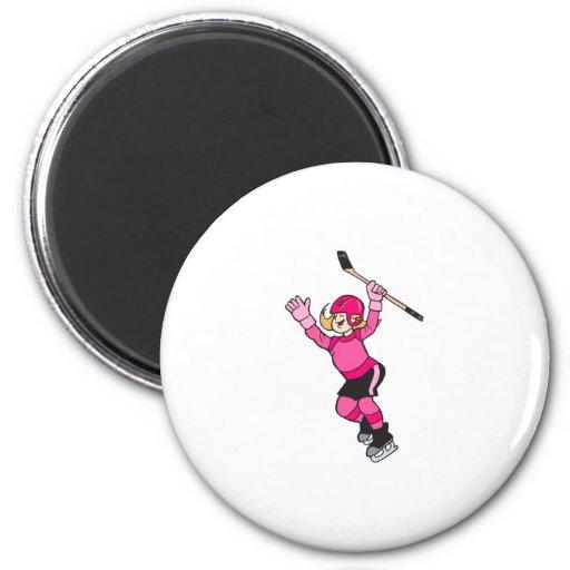 ¡Hockey del juego de los chicas! Iman Para Frigorífico