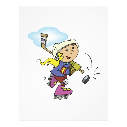Hockey del juego de los chicas también tarjetas informativas