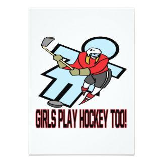 Hockey del juego de los chicas también comunicado