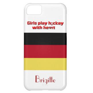 ¡Hockey del juego del chica con el corazón! - Carcasa iPhone 5C