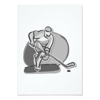 Hockey del juego invitación