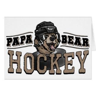 Hockey del oso de la papá por los estudios de tarjeta de felicitación