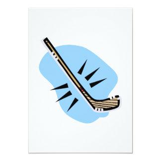 """Hockey del palillo invitación 5"""" x 7"""""""