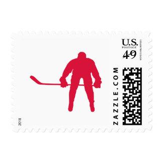 Hockey del rojo carmesí franqueo