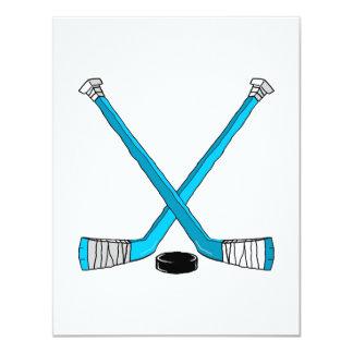 Hockey del trullo invitación personalizada