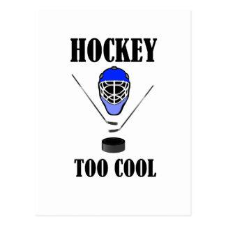 Hockey demasiado fresco postal
