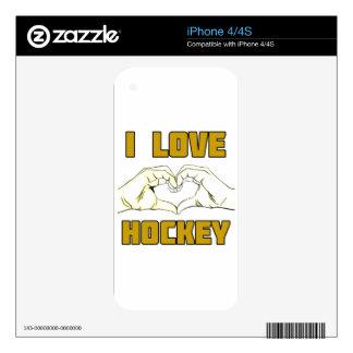 hockey design iPhone 4 decals