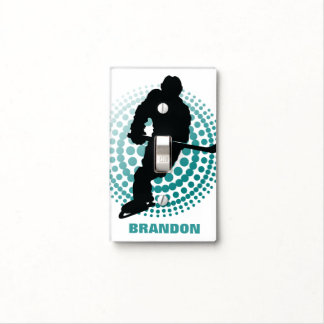 Hockey Design Light Switch Cover