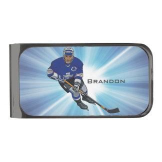 Hockey Design Money Clip
