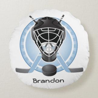 Hockey Design Round Pillow