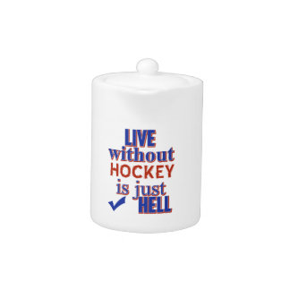 HOCKEY DESIGN TEAPOT