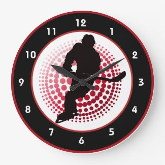 Hockey Design Wall Clock