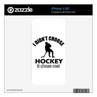 hockey designs iPhone 4S decal