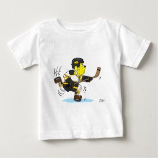HOCKEY DOG BLACK AND GOLD BABY T-Shirt