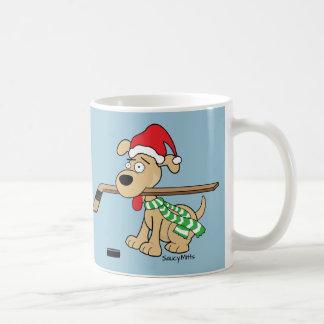 Hockey Dog Christmas Mug