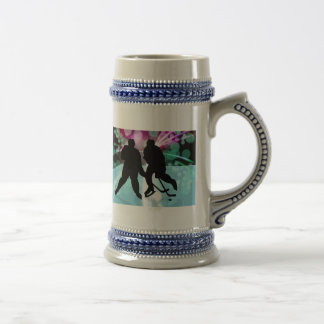 Hockey Duo Face Off Beer Stein