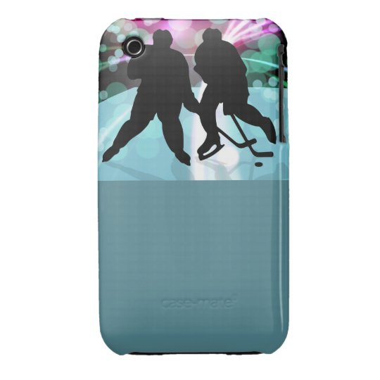 Hockey Duo Face Off iPhone 3 Case