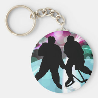 Hockey Duo Face Off Key Chains