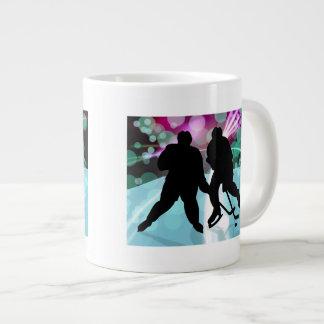 Hockey Duo Face Off Large Coffee Mug